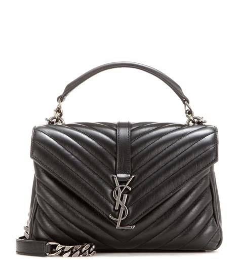 lyst saint laurent classic monogram quilted leather shoulder bag  black