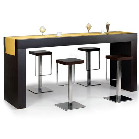 table haute bar cuisine table haute quot hour quot wengé achat vente table à