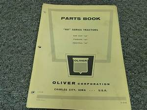 Oliver 60 Row Crop Standard Industrial Tractor Parts