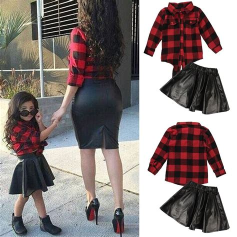 In 5 Introductory Offer Children 39 S Clothes 2pcs Baby Sleeve T Shirt Leather Skirt