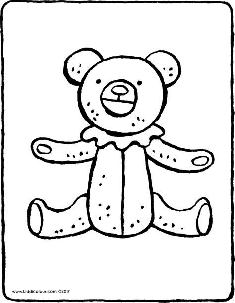 Kleurplaat Beren Broodjes Smeren by Teddybeer Kleurplaat