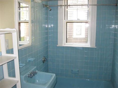 Retro Blue Bathroom Tile Ideas And Pictures