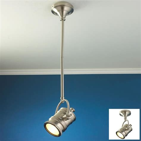 industrial spotlight flush mount convertible ceiling light