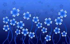 Beautiful Blue Flowers Vector Design Wallpapers