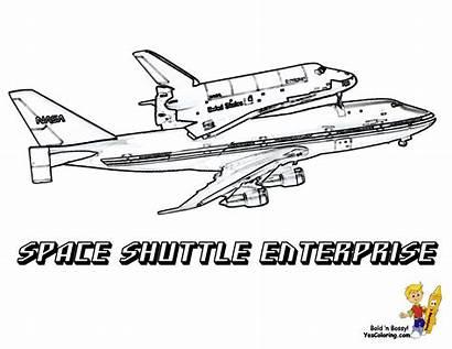 Shuttle Coloring Space Pages Enterprise Nasa Printable