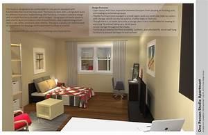 Apartment: Simple Ikea Studio Apartment Design With Small