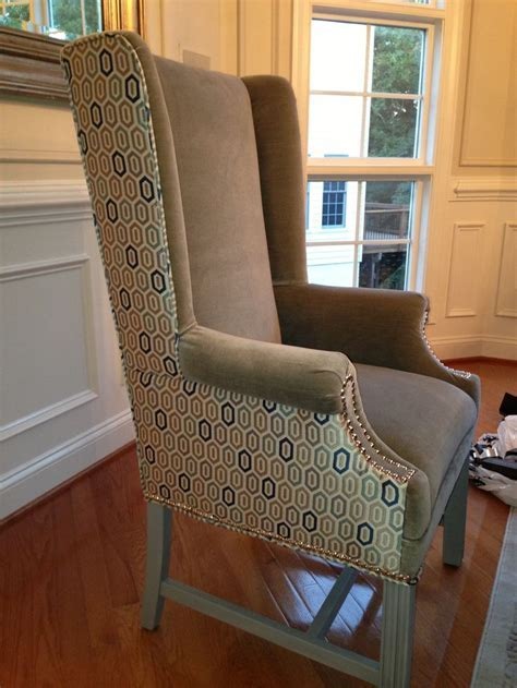 Two tone wingback chair   Chairs   Pinterest   Chairs, Two