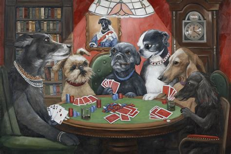 Dogs Playing Poker Wallpapers