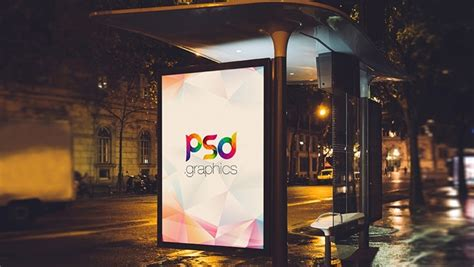 bus stand billboard advertising mockup css author