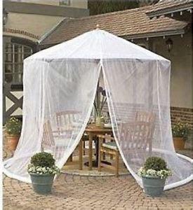 umbrella mosquito net canopy patio set screen house wht ebay