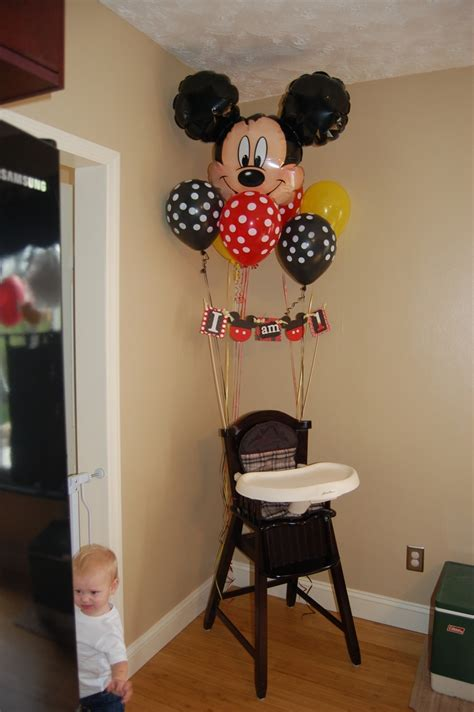 Mickey Mouse High Chair Decorations - mickey mouse birthday happy birthday high chair decor