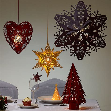 large ruby purple  hanging snowflakes