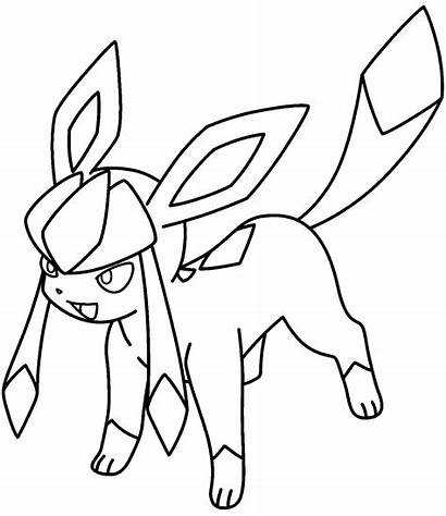 Coloring Sylveon Pages Pokemon Printable Getcolorings