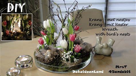 diy fruehlingsdeko kranz mit osternester tulpen  krans