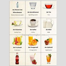 Learn German With Pictures Drinks  Learn German,german,vocabulary,pictures,drinks,food