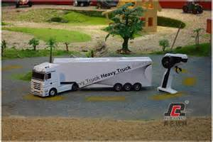 RC Trucks with Trailer and Boat