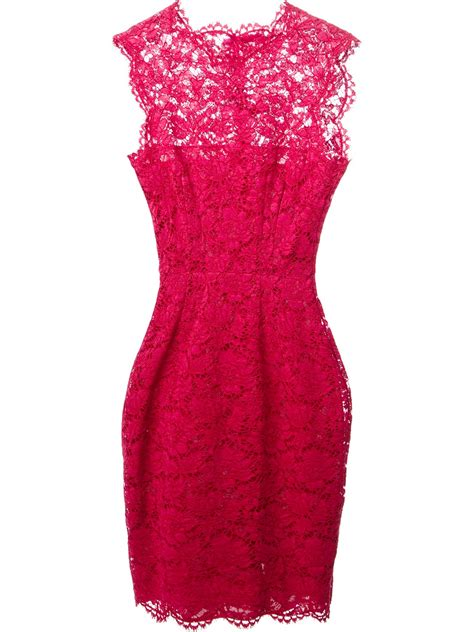 In Pink by Valentino Lace Dress In Pink Pink Purple Lyst