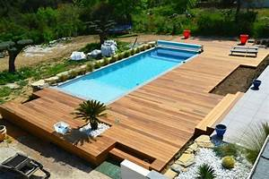 terrasse bois pour piscine With photo terrasse bois piscine 4 structure terrasse b wood