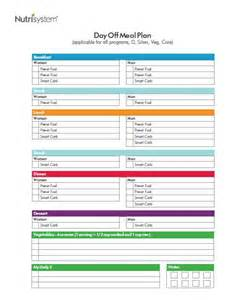 Nutrisystem Daily Meal Plan