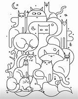 Colouring Pages Cat Embroidery Quilt sketch template