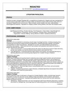 exle of paralegal resume