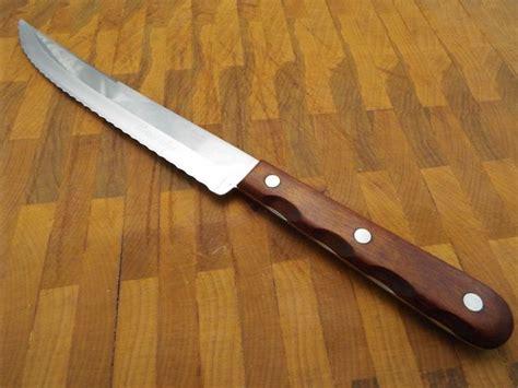 xx kitchen knives sharp vintage xx serrated blade m283 8 quot miracl edge