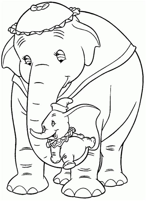 dumbo_coloring_pages_008 - Coloring Pages ABC Kids Fun Page | color book | Elephant coloring