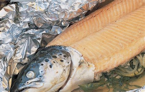 salmon whole fresh baked foil mayonnaise recipes fish herb