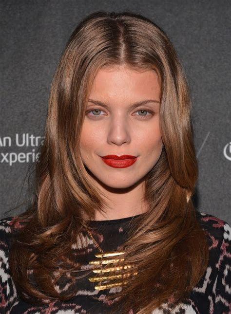 center parted formal long wavy hairstyle annalynne