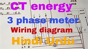 Ct Operated Three Phase Energy Meter Wiring Diagram     Uae