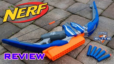 review nerf elite stratobow unboxing review firing