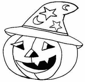 Tete De Citrouille Pour Halloween : coloriage halloween citrouille qui porte un chapeau ~ Melissatoandfro.com Idées de Décoration