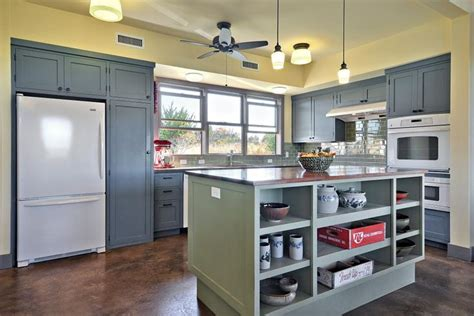 yellow kitchen island dusty blue cabinets and a green kitchen island 1219