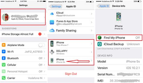 find my iphone in settings enable disable find my iphone on ios 11 ios 10 3 on
