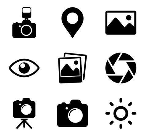 camera icons   vector icons