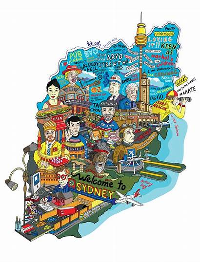 Sydney Map Creative Project Cities Behance Australia
