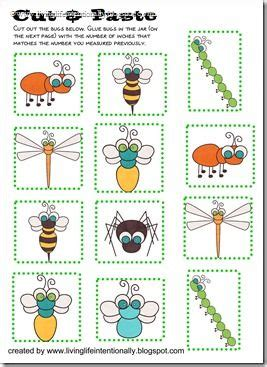 Free Measuring Bugs  Projekty Do Wypróbowania  Insect Activities, Bug Activities I Bugs, Insects