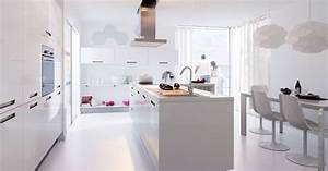 en photos les plus belles cuisines blanches la cuisine With les plus belles cuisines ouvertes