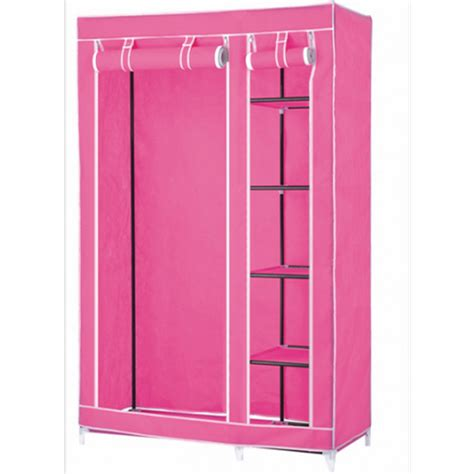 Wardrobe Closet For Hanging Clothes by Portable Wardrobe Closets Pink Portable Wardrobe