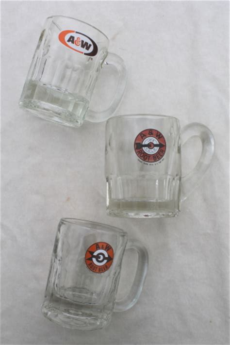 vintage aw root beer mugs glass mug lot