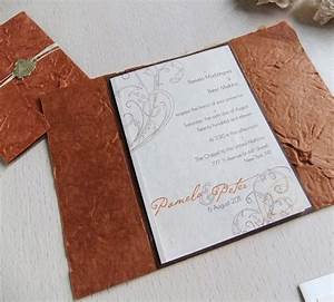old world wedding invitation handmade paper invitations With wedding invitations with wax paper