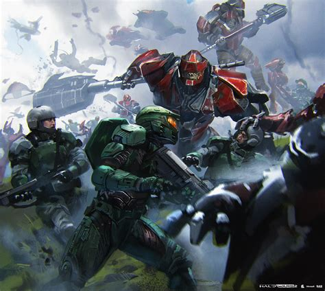 Halo Wars 2 Concept Art By Yap Kun Rong Concept Art World