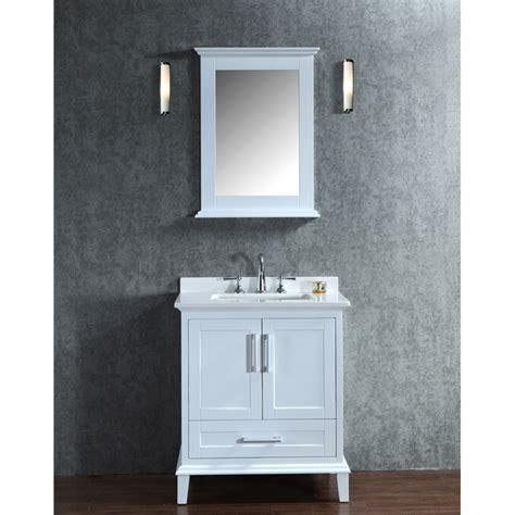 Double Bathroom Sink Tops by Ariel By Seacliff Nantucket 30 Quot White Single Sink Bathroom