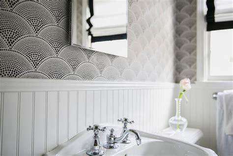 Black Beadboard Paneling : Black And White Wallpaper For Bathroom