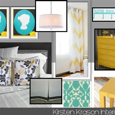 grey yellow and teal for the home