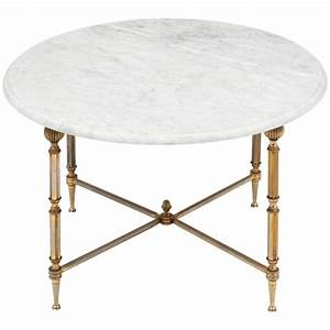 French vintage marble top brass side table at 1stdibs for Antique marble coffee table and end tables