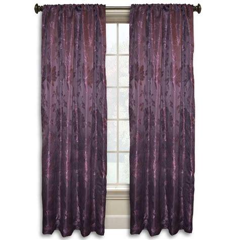 lucerne    purple rod pocket curtain wpn