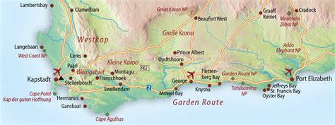 suedafrika karte garden route  blog