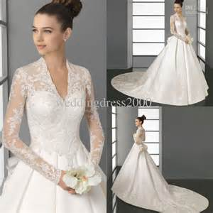 custom made wedding dresses empire custom made real sle a line muslim wedding dress modest wedding gowns sleeves