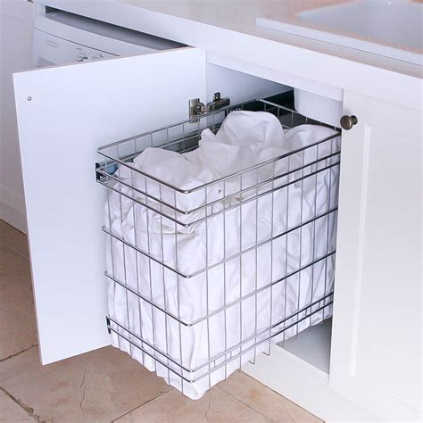Stainless Steel Pull Out Laundry Baskets For Storage